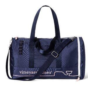 Vineyard Vines Whale Line Duffel Bag - Navy/Pink